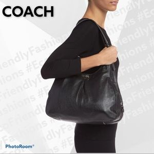 COACH 'Madison - Maggie' Leather Hobo in Black